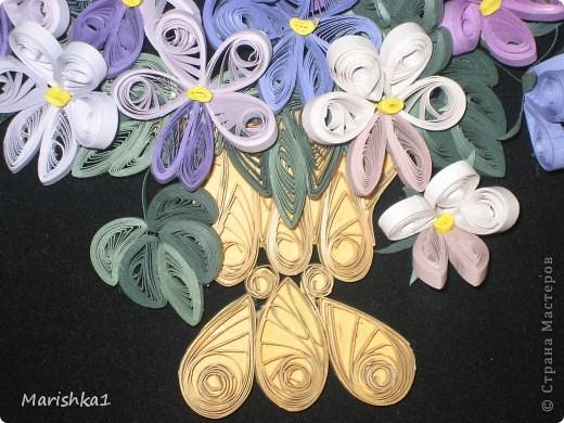 Ну вот и моя вторая работа готова. Хочу сказать огромное спасибо Ольге Ольшак - в работе использовала ее фиалки и Лорe.34 - за замечательный МК листиков. фото 2