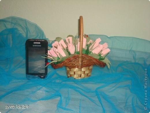 На фото кажется большой ,а на самом деле корзиночка высотой 8 см и помещается на ладошке. фото 4