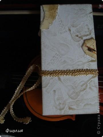Сегодня готовили подарки для учителей. Для нашей любимой учительнице по музыке сделала вот такую открыточку-шоколадницу. фото 4