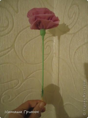 """Мастер класс """"Роза из гофрированой бумаги"""" фото 18"""