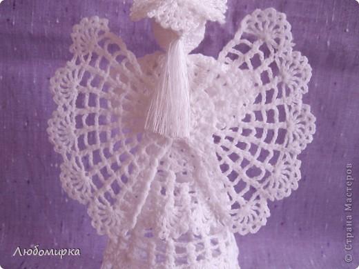 Ангел с сердцем. Сердечко из ленточки на проволоке(идея взята в Стране Мастеров). фото 2