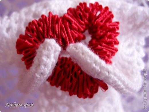 Ангел с сердцем. Сердечко из ленточки на проволоке(идея взята в Стране Мастеров). фото 4