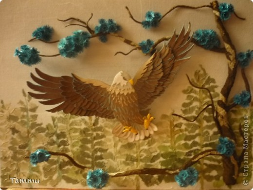 Вот наконец-то я закончила своего орла. Начала его делать еще в начале лета. Выставляю работу на суд мастериц СМ. фото 2
