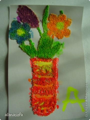 Решили сделать его праздничным и подарить на День учителя одной из наших бабушек фото 1