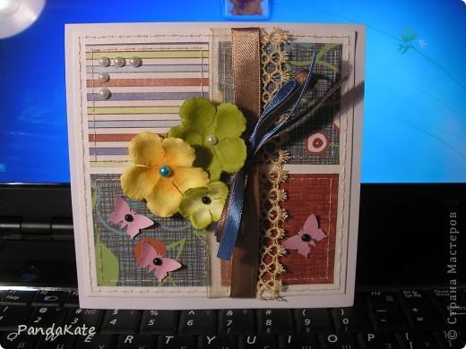 Здравствуйте! В лицее, где я учусь, предложили  сделать открытки ко Дню учителя. С помощью мамы я сделала вот такую открытку. фото 1