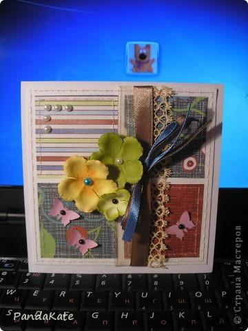 Здравствуйте! В лицее, где я учусь, предложили  сделать открытки ко Дню учителя. С помощью мамы я сделала вот такую открытку. фото 2