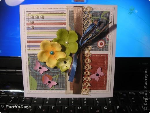 Здравствуйте! В лицее, где я учусь, предложили  сделать открытки ко Дню учителя. С помощью мамы я сделала вот такую открытку. фото 3