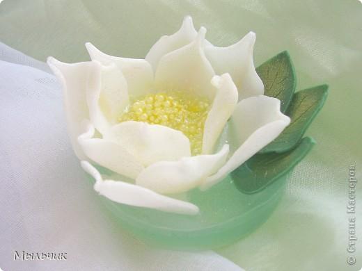 Мастер-класс Мыловарение МК мыльные цветы из основы магнолия  Мыло фото 1