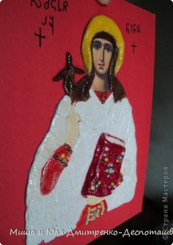Эта икона вылеплена из соленого теста в подарок для родственницы, носящей тоже имя Нино, в благодарность за то, что она всегда рядом с нами в трудную минуту.  фото 2