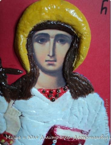 Эта икона вылеплена из соленого теста в подарок для родственницы, носящей тоже имя Нино, в благодарность за то, что она всегда рядом с нами в трудную минуту.  фото 3