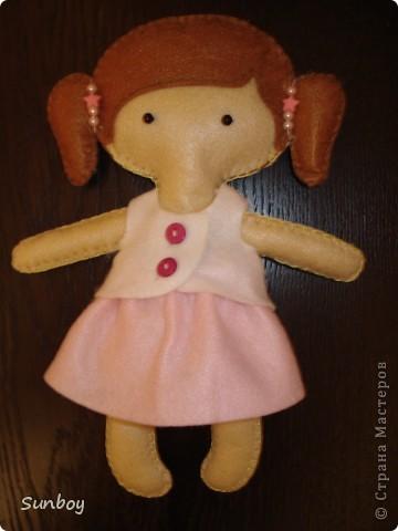 Кукла из фетра 2 фото 1
