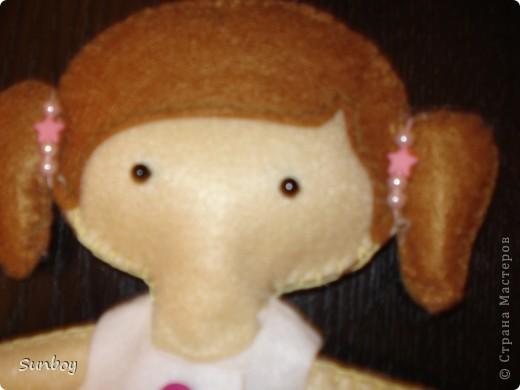Кукла из фетра 2 фото 2