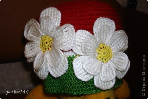 шапочка и шарфик для внучки друзей фото 5