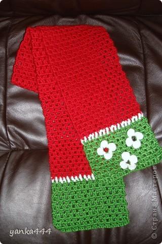 шапочка и шарфик для внучки друзей фото 2