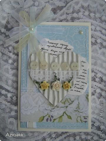 В моей семье начинается пора открыток: много дней рождений осенью и зимой. Эту открытку подарила своей племяннице. Ей исполнилось 7 лет. фото 4