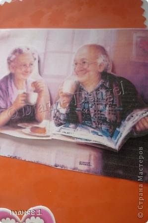 Вот такую открытку я сделала моим бабушке и дедушке ко дню пожилого человека. фото 3