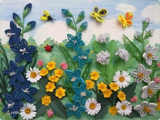 Это мои полевые цветы. Большое спасибо Анне Сожан за идею! https://stranamasterov.ru/node/87849  Увидела ее охапку полевых цветов и не смогла удержаться. Фон немного изменила. фото 2