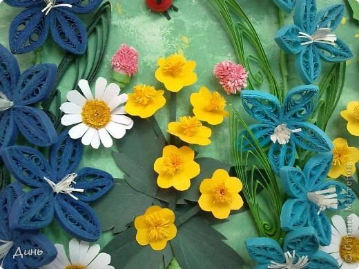 Это мои полевые цветы. Большое спасибо Анне Сожан за идею! https://stranamasterov.ru/node/87849  Увидела ее охапку полевых цветов и не смогла удержаться. Фон немного изменила. фото 3