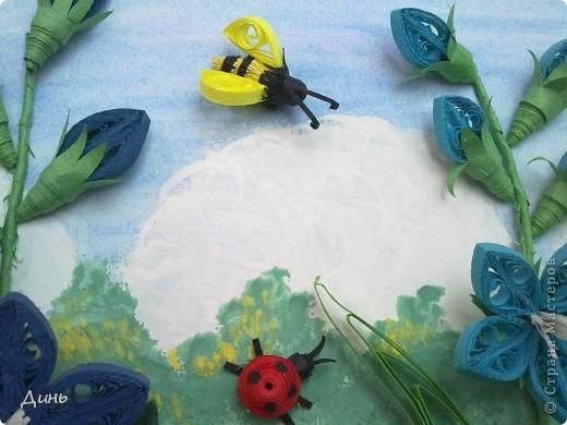 Это мои полевые цветы. Большое спасибо Анне Сожан за идею! https://stranamasterov.ru/node/87849  Увидела ее охапку полевых цветов и не смогла удержаться. Фон немного изменила. фото 5
