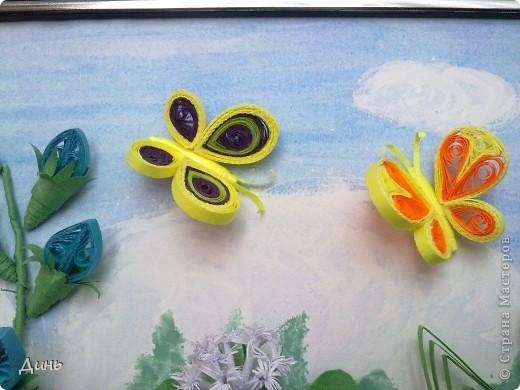 Это мои полевые цветы. Большое спасибо Анне Сожан за идею! https://stranamasterov.ru/node/87849  Увидела ее охапку полевых цветов и не смогла удержаться. Фон немного изменила. фото 6