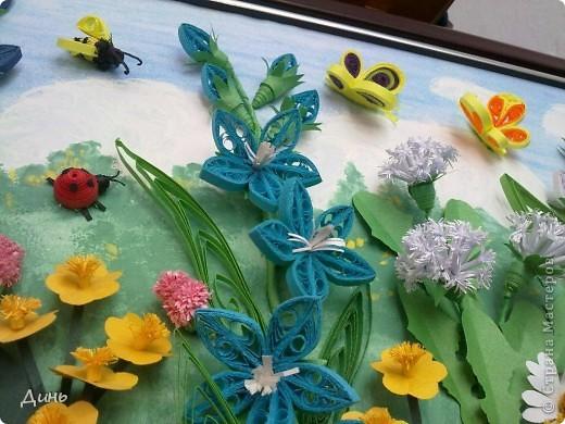 Это мои полевые цветы. Большое спасибо Анне Сожан за идею! https://stranamasterov.ru/node/87849  Увидела ее охапку полевых цветов и не смогла удержаться. Фон немного изменила. фото 7