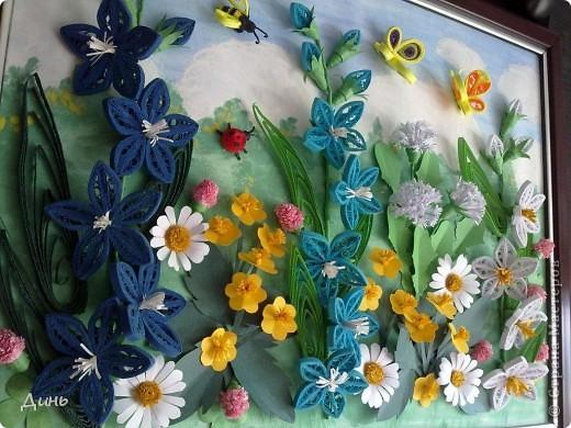 Это мои полевые цветы. Большое спасибо Анне Сожан за идею! https://stranamasterov.ru/node/87849  Увидела ее охапку полевых цветов и не смогла удержаться. Фон немного изменила. фото 8