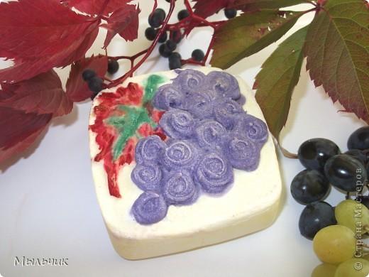 """Натуральное взбитое мыло на соке белого винограда сорта """"Шардоне"""" фото 1"""