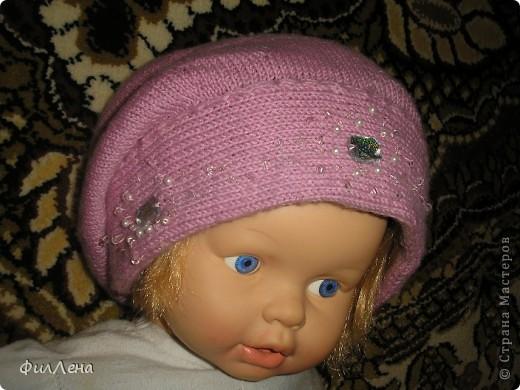 Мои вязанные шапочки фото 3