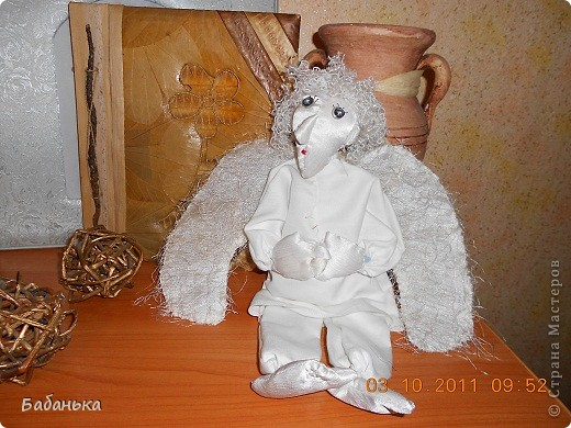 Ангел на рождественской салфетке. фото 3