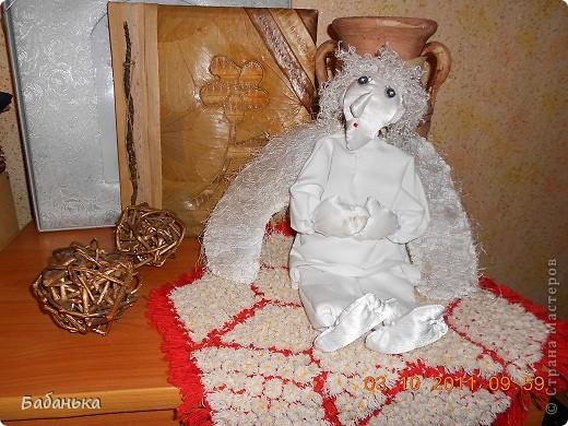 Ангел на рождественской салфетке. фото 1