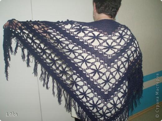 Гардероб Вязание крючком Шаль-