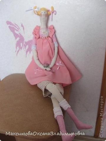 Эту Тильдочку я сшила невестке на день рождения в её розовую спальню. фото 1