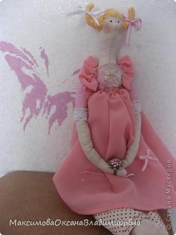 Эту Тильдочку я сшила невестке на день рождения в её розовую спальню. фото 2