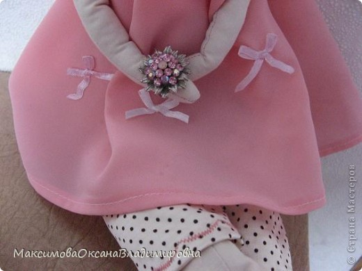 Эту Тильдочку я сшила невестке на день рождения в её розовую спальню. фото 4
