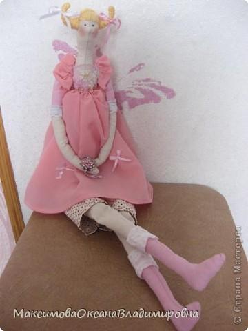 Эту Тильдочку я сшила невестке на день рождения в её розовую спальню. фото 8