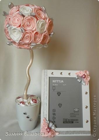 Доброго времени суток!!!! Вырастила ещё один свадебный топиарий, которые будет подарен молодоженам и надеюсь, принесет в их дом счастье, благополучие, любовь!  Мои предыдущие топиарии к свадьбе можно посмотреть здесь http://stranamasterov.ru/node/242416, и здесь http://stranamasterov.ru/node/236654 фото 1