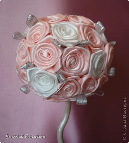 Доброго времени суток!!!! Вырастила ещё один свадебный топиарий, которые будет подарен молодоженам и надеюсь, принесет в их дом счастье, благополучие, любовь!  Мои предыдущие топиарии к свадьбе можно посмотреть здесь http://stranamasterov.ru/node/242416, и здесь http://stranamasterov.ru/node/236654 фото 3