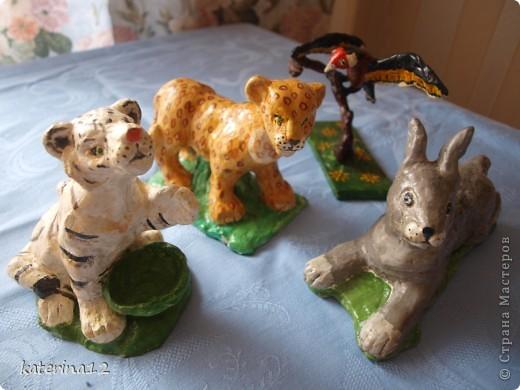 Милые зверьки,сделанные из глины!