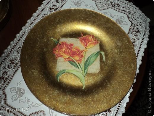 Обратный декупаж,салфетка, три цвета краски металлик, стекловидный лак фото 2