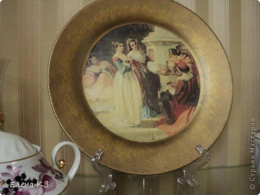 Обратный декупаж,салфетка, три цвета краски металлик, стекловидный лак фото 4