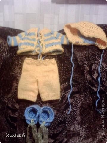 Вот такой костюмчик получился для дочкиного пупса. фото 8