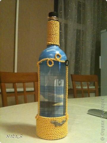 Вот такую бутылочку сделала на день рождения другу фото 1