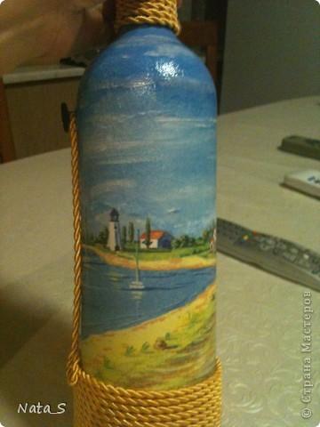 Вот такую бутылочку сделала на день рождения другу фото 3