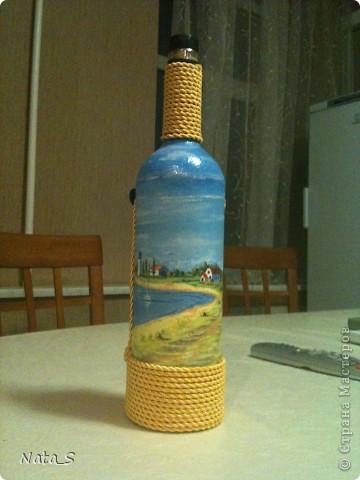 Вот такую бутылочку сделала на день рождения другу фото 5