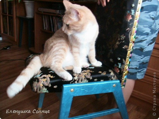 Наконец то закончила  стул, или это кресло или ... трон)))) фото 3