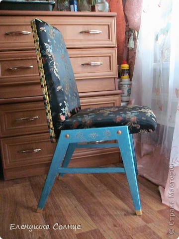 Наконец то закончила  стул, или это кресло или ... трон)))) фото 9