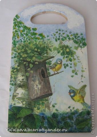 Декупаж по дереву - салфетки трехслойные фото 4