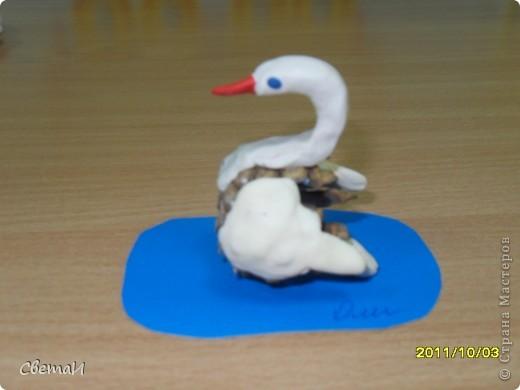 Вот таких лебедей мы делали с детьми 5 лет.  фото 1