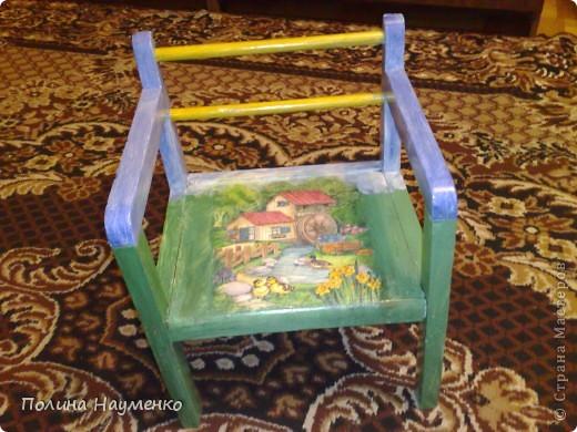 Этому стульчику сто лет, мой муж еще на нем сидел в своем детстве))) фото 1