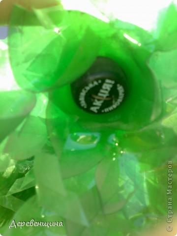 Начинаем делать пальму. Заготовим бутылки. Нужно срезать этикетки, страховочное кольцо от крышки. И обязательно вымыть их!!!  фото 14
